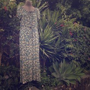 BANANA REPUBLIC maxi dress floral tie waist
